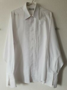 "Berkertex Mens White Long Sleeve Collared Shirt Size 16.5"" / 42"""