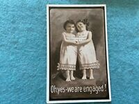 Oh Yes, we are engaged! Vintage 1910 Postcard