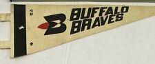 "Vintage 1970's MLB Buffalo Braves 9.5""  Felt Basketball Pennant"