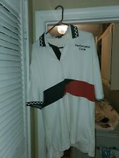 Performance  Cycle Polo Shirt White Men's Casual  XL by Inner Harbor