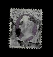 US 1870 Sc# 153  24 c Purple Scott  Used - Centered  - Crisp Color