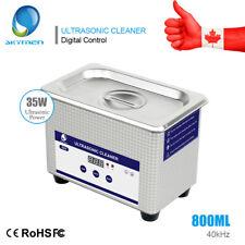 0.8L Digital Ultrasonic Cleaner Cleaning Bath Jewelry Eyeglasses Dental Parts US