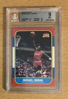 Michael Jordan 1986-87 Fleer RC Rookie Card Graded BGS 9 Mint Bulls #57 2 9.5's