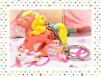 ❤️My Little Pony G1 Merchandise VTG MAIA BORGES Applejack KEYCHAIN Portugal❤️