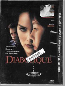 Diabolique (DVD, 2000) Rare Mystery Drame Thriller Sharon Stone 1996 Neuf