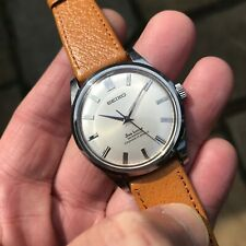Superb vintage 1960's Seiko 66-8980 Sea Horse 17J silver dial manual wind watch
