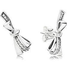 PANDORA Ohrstecker Ohrringe Earrings 297234 CZ Bows Schleifen Silber