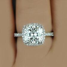 GIA Certified Cushion Cut Diamond Engagement Ring 2.00 CTW  18K Amazing Deal