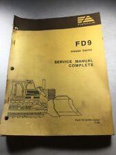 Fiat Allis FD9 Crawler Dozer Service Manual