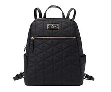 Kate Spade Quilted small Hilo Blake Avenue Laptop Backpack Book Nylon Black Bag