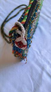 Damentasche, Umhängetasche,  Perlenstickerei, Antik?
