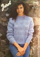 """jarol DK Knitting Pattern Jumper Sweater ladies  Size 32/43"""""""