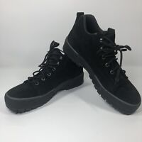 WOMEN'S COLE HAAN WATERPROOF ANDES BLACK LEATHER SHOES F9066 SIZE 9.5 AA NARROW