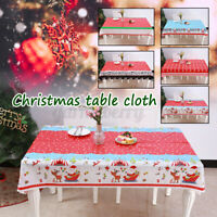 Rectangular Christmas Tablecloth Table Cloth Xmas For Home Dinner Cover Decor US