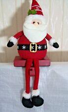 Fabric Santa Weighted Christmas Stocking Hanger Holder Gisela Graham