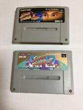 STREET FIGHTER Ⅱ TURBO and  Ⅱ Nintendo Super Famicom Japanese JAPAN SFC SNES