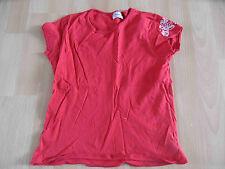 CHIPIE schönes Basic Shirt rot m. Stickerei Gr. 10 J / 140 TOP (KJ814)