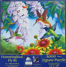 SunsOut HUMMINGBIRD FLY BY 1000 pc Jigsaw Puzzle Olga Kovaleva
