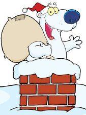 30 Custom Christmas Polar Bear Personalized Address Labels