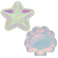 6 Pcs Iridescent Star Shell Paper Plates Mermaid Sparkle Wedding Birthday Party