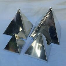 Pyramid Candle Mold Set of 4 molds 6in, 5in, 4in & 3in