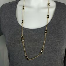Kate Spade Gold Black Bow Necklace