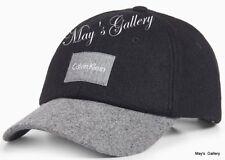 CK Calvin Klein  BaseBall Cap Ball Hat Military NWT  One Size  C.K. Black Wool