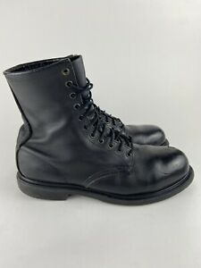 """Red Wing Shoes 4473 8"""" Steel Toe Motorcycle Work Black Lace Up Boots 10.5 D"""