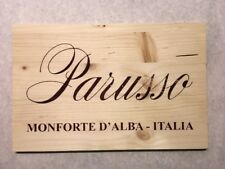 1 Double Sided Rare Wine Wood Panel Parusso Vintage Crate Box Side 5/18 768