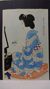 Ito Shinsui Rouge Japanese Woodblock Print  Modern Beauties