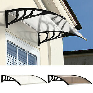 Outdoor Window Door Canopy Fixed Awning Porch Patio UV Water Rain Snow Cover