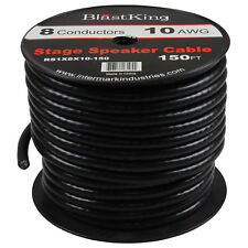 Blastking 10 AWG 8 Conductors Stage Speaker Cable wire -RS1X8X10