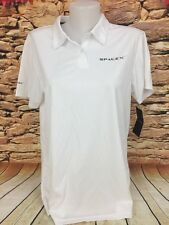 SpaceX Aerospace Womens White Logo Polo Shirt Size Large NWT