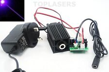 405nm 50mw Violet/Purple Blue Dot Laser Module w 12V AC Adapter & Driver Out