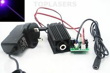 405nm 100mw Violet/Purple Blue Dot Laser Module w 12V AC Adapter & Driver Out