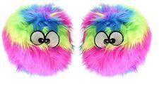 GoDog Furballz Chew Guard Dog Toy, Rainbow  (Free Shipping)