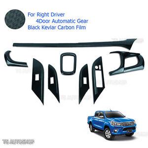 Black Carbon Console Air Panel Cover For Toyota Hilux Revo Sr5 4Dr Auto 2015 17