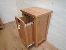 VANCOUVER COMPACT PETITE SOLID OAK 1 DRAWER LAUNDRY STORAGE UNIT NB091