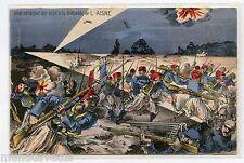 WW1 . ZOUAVES . Une attaque de nuit à la bataille de l'AISNE . WAR