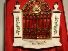 """NEW LENOX """"FIRST YEAR IN THE NEW HOME""""  CHRISTMAS TREE ORNAMENT"""