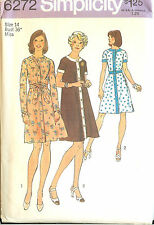 Vintage 70s Simplicity Sewing Pattern 6272 Misses Tent Dress Size 14 B36