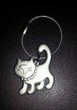 Smiley cat key ring