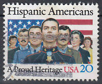 USA Briefmarke gestempelt 20c Hispanic Americans A Proud Heritage / 413
