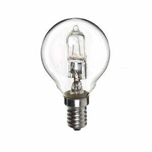 GE 20 watt = 26 watt SES E14 Clear Golf Ball Dimmable Halogen Light Bulbs X5