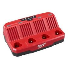 Milwaukee 48-59-1204 Battery Charger M12 12 Volt REDLINK 4-Bay Skip Button 12V