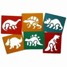 Dinosaur stencils pack of 6 washable plastic