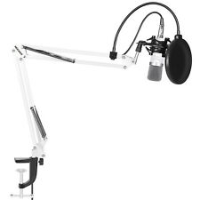 Neewer Microphone Kit includes:(1)Microphone +(1)Stand +(1)Filter+(1)Shock Mount
