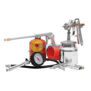 New 5 Piece Air Compressor Kit Air Line Accessories Spray Gun Tools Air Hose UK