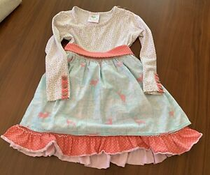 Shrimp And Grits Serendipity Christmas Reindeer Dress Small 4 - 5