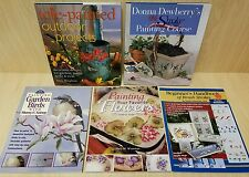 5 Painting Books-Tole Painted Outdoor Projects,Brush Strokes,Birds,Flowers-HowTo